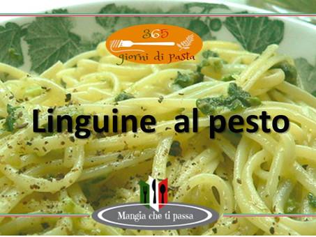 Linguine al pesto - una ricetta italiana di 365 giorni di pasta