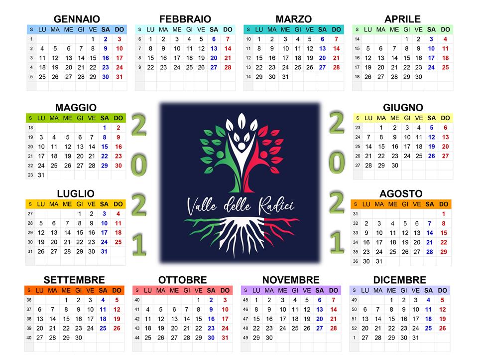Calendario 2021 - Valle delle Radici