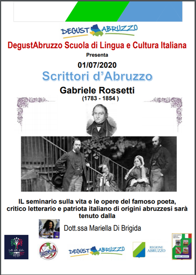 Inizio: 1 luglio 2020 Tenuto dalla dott.ssa : Mariella di Brigida Organizzato da: Degustabruzzo