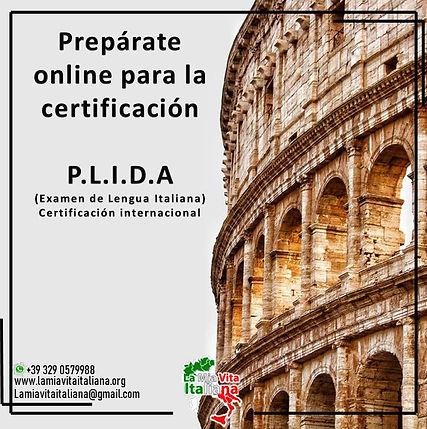 PLIDA examen internacional de italiano
