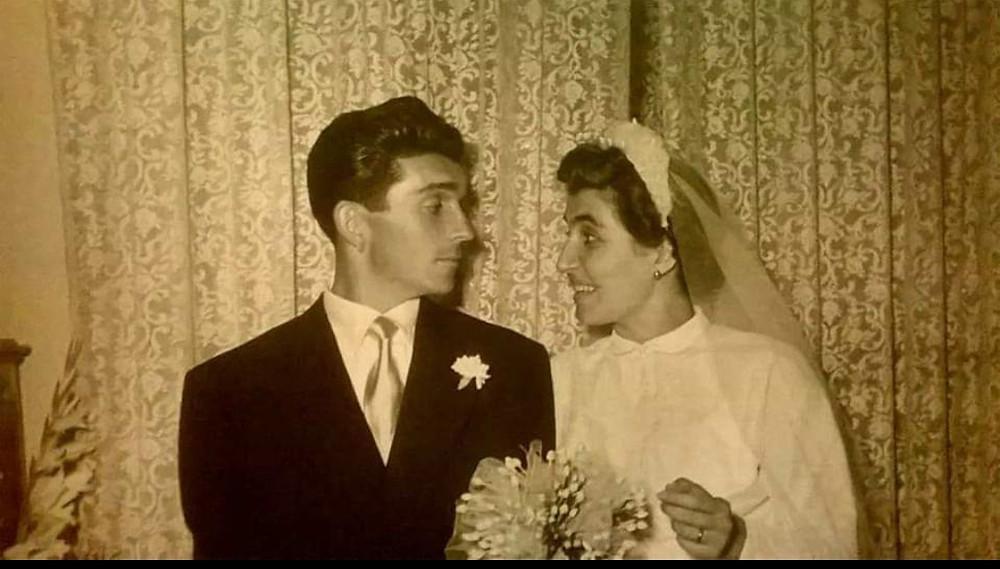 Nonna Maria e Nonno il día de su matrimonio.