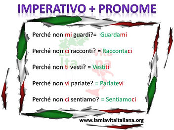 Imperativo + pronome