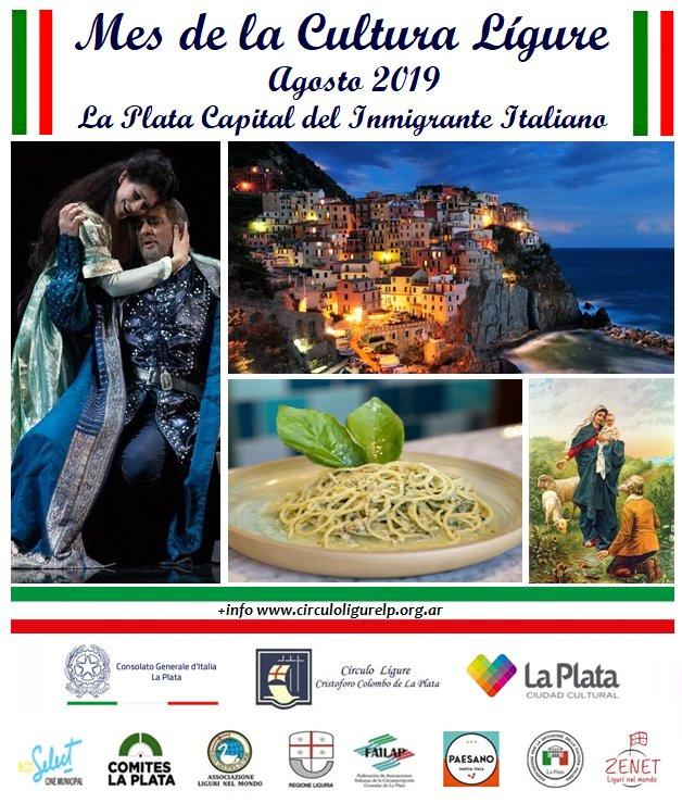Calendario proposto dal Circolo Ligure di La Plata per il Mese della cultura Ligure