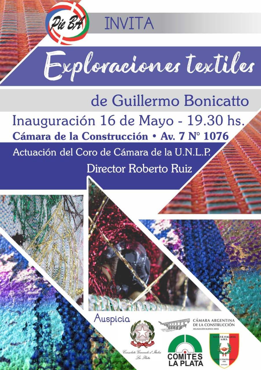 Locandina Exploraciones Textiles - Guillermo Bonicatto