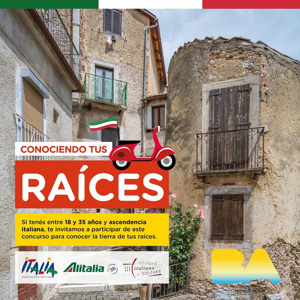 Concurso para todos los ciudadanos de Buenos Aires que tengan entre 18 y 35 años para conocer Italia y acercarse a sus raíces