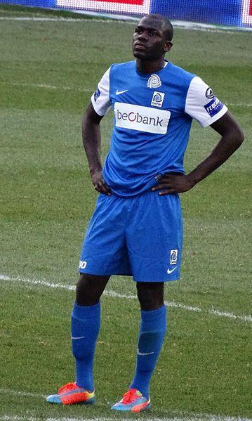 Koulibaly jugador del Nápoles víctima de los coros racistas.