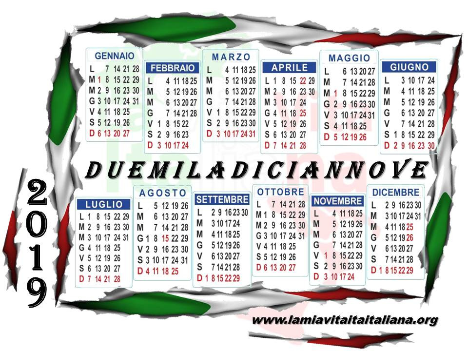 Doble click en la foto para descargar el calendario italiano 2019