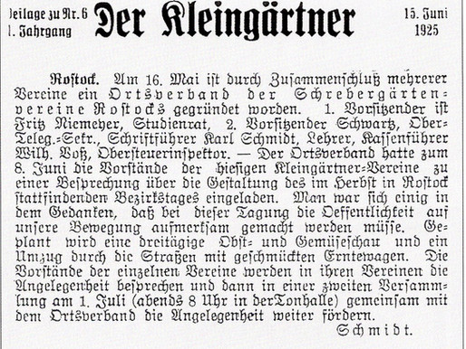 95 Jahre Kleingartenverband in Rostock