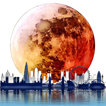 Blood Moon over London.  21.1.19