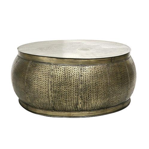 Chandri Hammered Brass Coffee Table