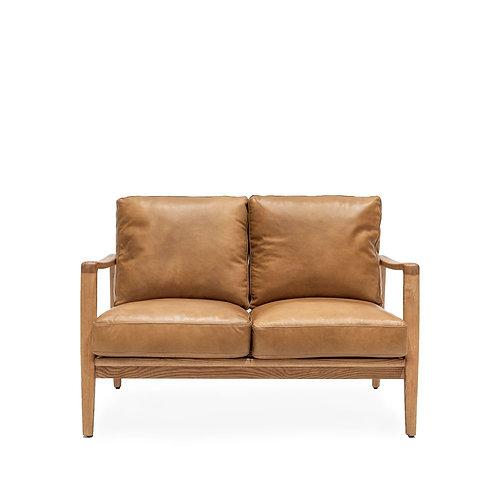 Reid 2 Seater Sofa - Tan Leather