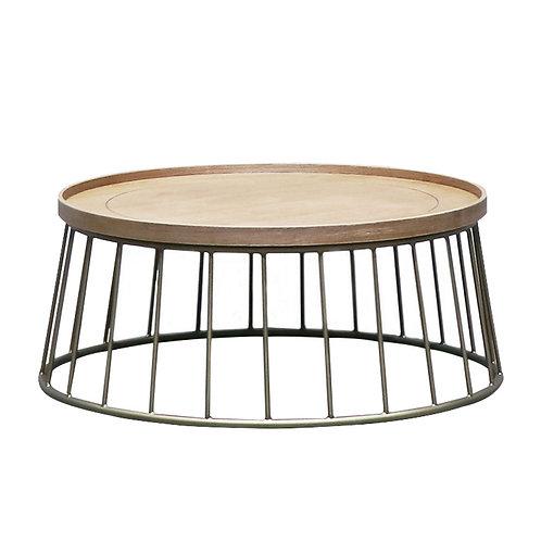 Reid Coffee Table - Oak/Brass