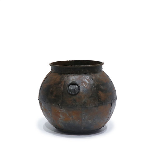 Sahar Round Iron Planter - Large