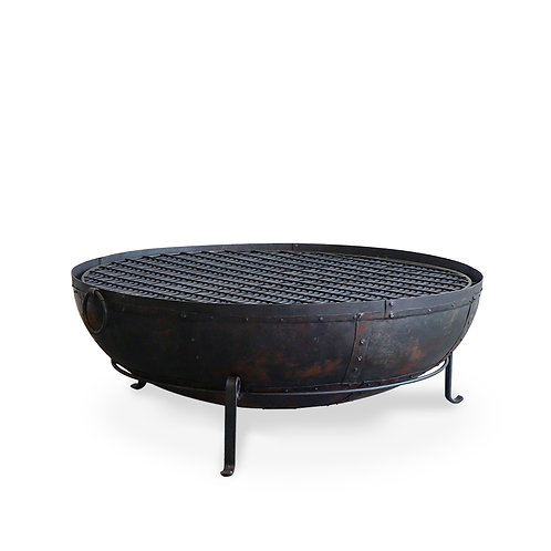 Iron Sahar Fire Bowl Set - 120cm