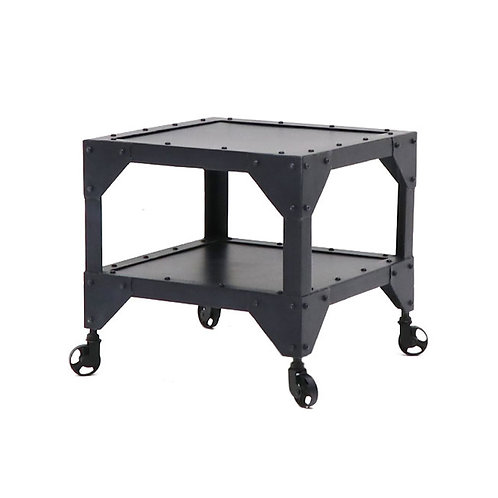 Bank Iron Side Table - 2 Tier