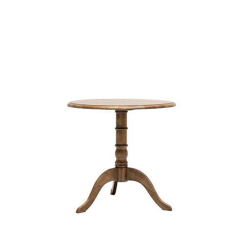 Pedestal Dining Table Oak 100cm