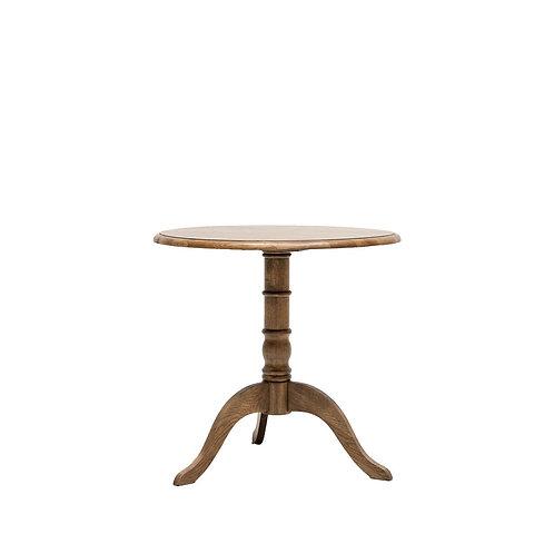 Pedestal Dining Table Oak 80cm