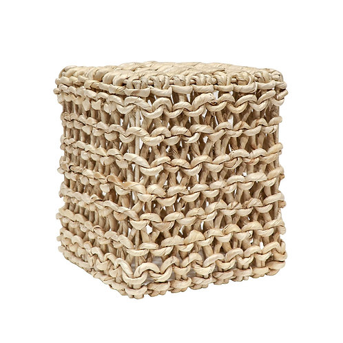 Abaca Square Chain Link Side Table - Natural