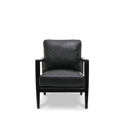 Reid Leather Armchair - Antique Black