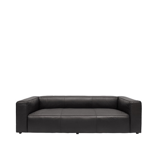 Yale Sofa  3 Seater Aged Black
