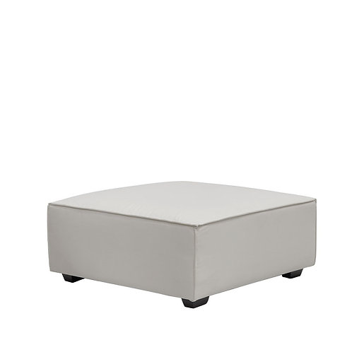 Felix Fabric Ottoman - White