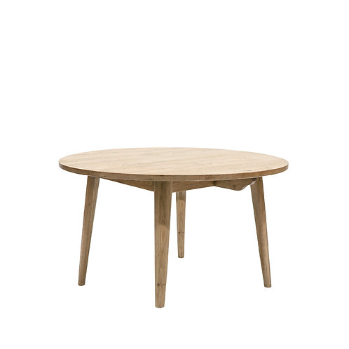 Vaasa Round Oak Table - 120cm