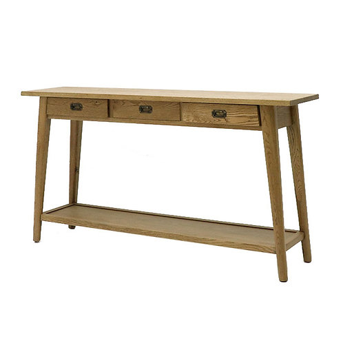 Vaasa Oak Console - 3 Drawer