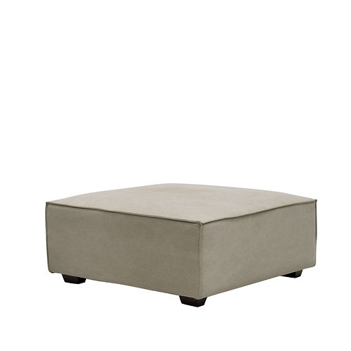 A classic strudy Hamptons style fabric ottoman, simplistic yet stunning with small almost invisible timber legs it appears to