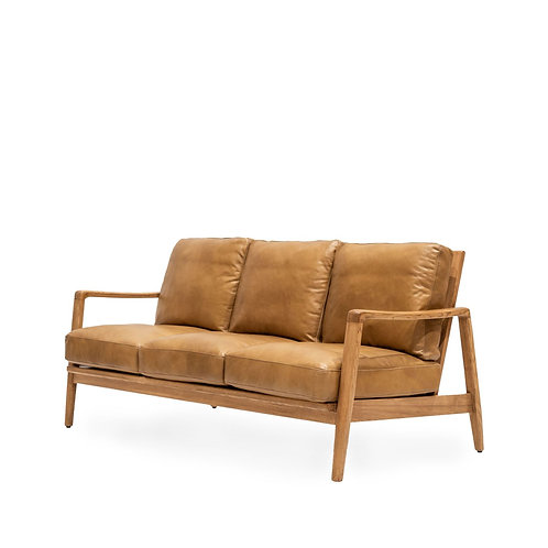 Reid 3 Seat Sofa - Tan Leather