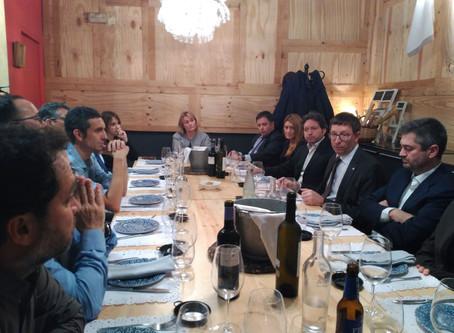Sopar amb el Conseller Carles Mundó