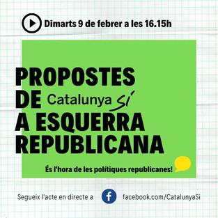 Propostes de Catalunya Sí a Esquerra Republicana