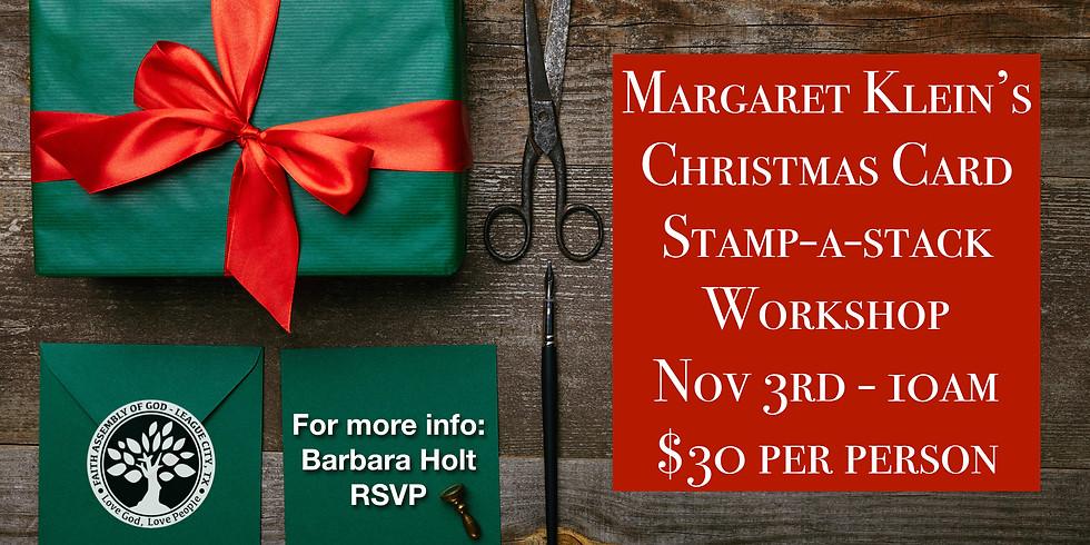 Stamp-a-stack Christmas card workshop!