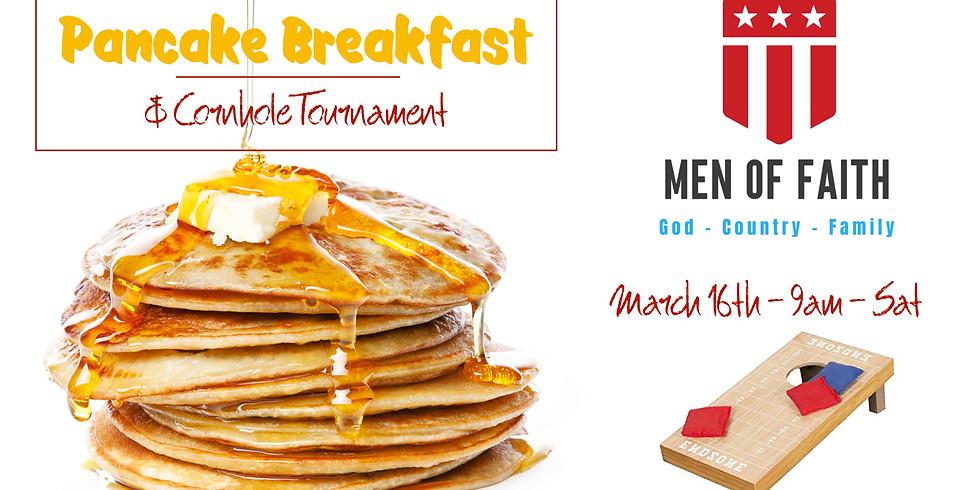 Men's Pancake Breakfast and Cornhole Tourney