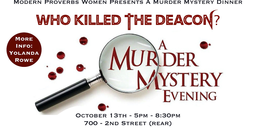 An evening of fun, food, and mystery!