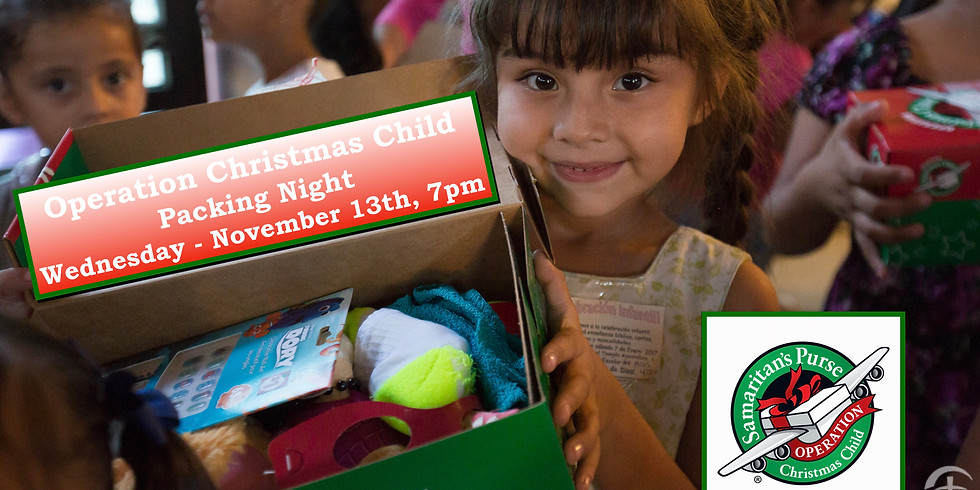 Operation Christmas Child Box Packing Party!
