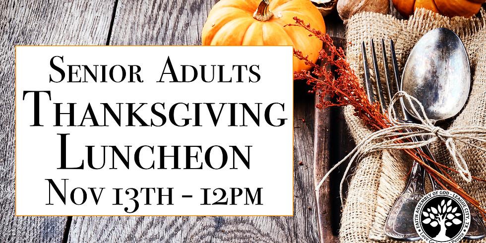 Senior Adults Thanksgiving Luncheon!