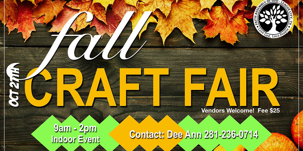 Our annual fall craft show!