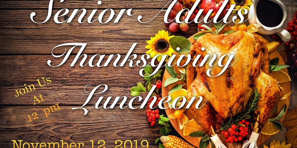 Senior Adults Thanksgiving Luncheon