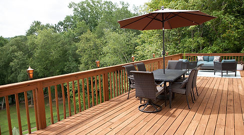 Pressure Treated Wood Decking from YellaWood with Stain