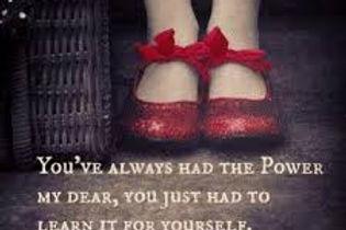 "you've always had the power from ""wizard of oz"""