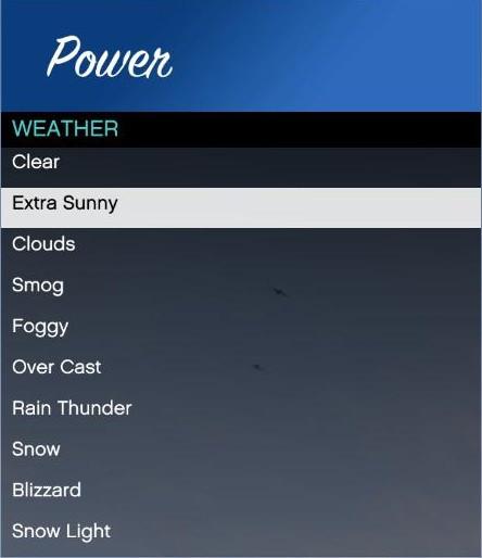 Weather Options