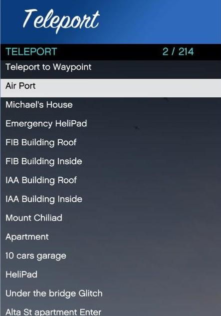 Teleport Options