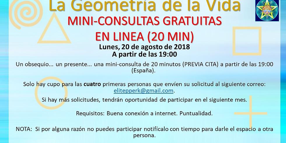 GEOMETRIA DE LA VIDA  Mini-Consultas GRATUITAS en línea.