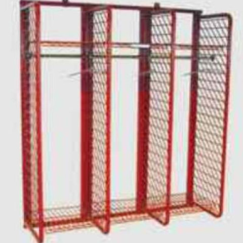 Wall Mounted Red Rack – 20″ Compartments