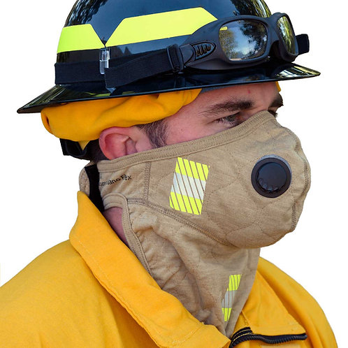 PGI BarriAire gold particulate face mask w/ neck gaiter