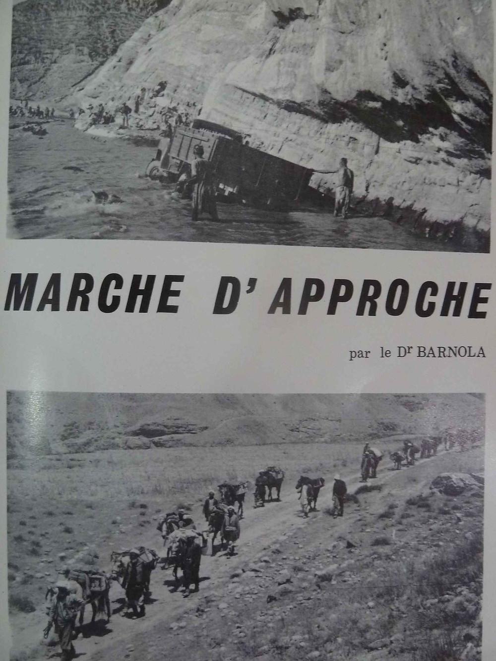Marche d'approche de l'expédition française de 1969 en Hindou Kouch