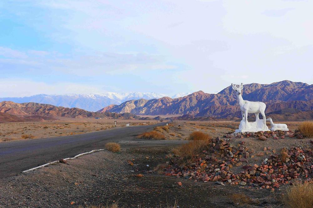 Vallée de Kachkor, au Kirghizstan, lors de notre voyage à ski