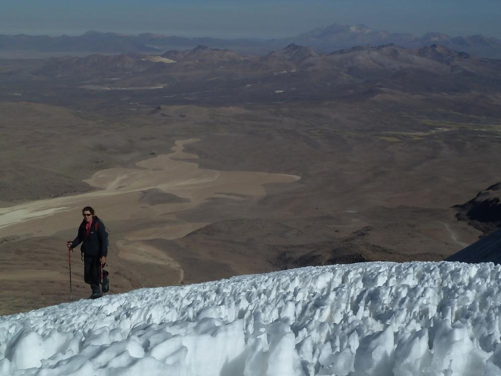 Pénitents lors de l'ascension du volcan Acotango