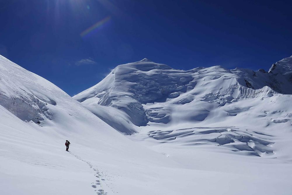 Vers 6100m en direction de la face de l'Himlung Himal