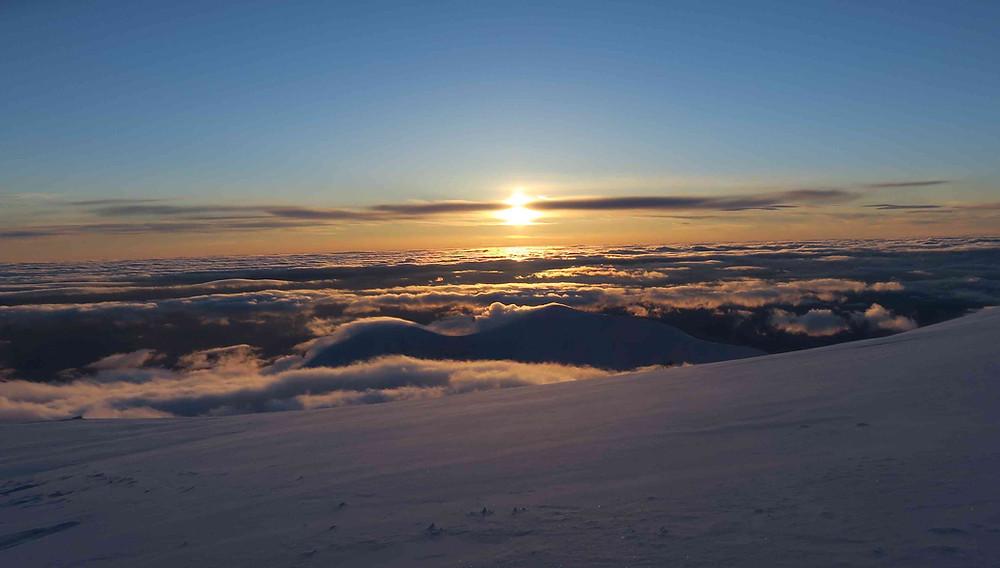 coucher de soleil depuis le Windy Corner